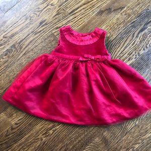 little red baby dress